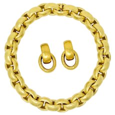 Chunky Paloma Picasso Tiffany & Co. 18 Karat Gold Hammered Link Collar Necklace