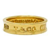 Tiffany & Co. Vintage 18 Karat Gold Unisex 1837 Band Ring