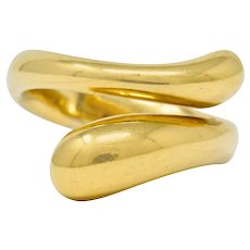 Elsa Peretti Tiffany & Co. Spain 18 Karat Gold Teardrop Bypass Ring