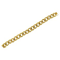 Boucheron Vintage 1960's 18 Karat Gold French Curb Link Bracelet