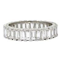 Vintage 3.80 CTW Diamond Platinum Eternity Band Ring