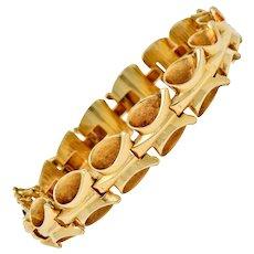 1940's Retro 14 Karat Gold Stylized Link Bracelet
