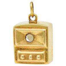 Art Deco 14 Karat Gold Stanhope Microphoto New York Charm
