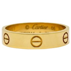 Cartier Vintage 18 Karat Gold Unisex Love Band Ring