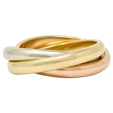 Tiffany & Co. Vintage 14 Karat Tri-Colored Gold Paloma's Melody Rolling Band Ring