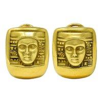 1995 Kieselstein Cord 18 Karat Green Gold Women Of The World Ear-Clip Earrings