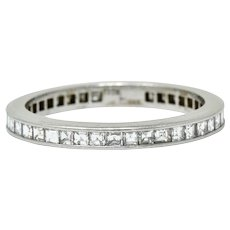 Tiffany & Co. Mid-Century 1.25 CTW Diamond Platinum Eternity Band Ring