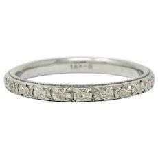 Kielty & Beard Art Deco 18 Karat Gold Wedding Band Ring