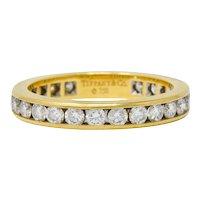 Tiffany & Co. Vintage 1.50 CTW Diamond 18 Karat Gold Eternity Band Ring