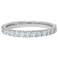 Contemporary .75 CTW Diamond Platinum Anniversary Band Ring
