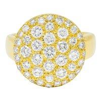 Van Cleef & Arpels 1.50 CTW Pave Diamond 18 Karat Gold Circle Band Ring