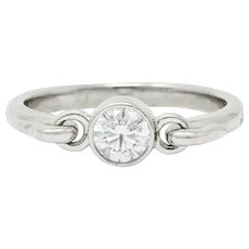 Elsa Peretti Tiffany & Co. 0.25 CTW Platinum Swan Ring