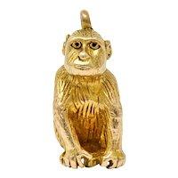 Vintage 14 Karat Gold Monkey Charm