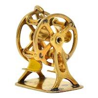 Retro 14 Karat Gold Rotating Ferris Wheel Charm Circa 1950