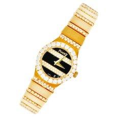 Piaget 3.75 CTW Diamond 18 Karat Gold Swiss Polo Watch Bracelet