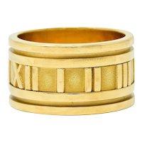 1995 Tiffany & Co. 18 Karat Gold Unisex 12MM Atlas Band Ring