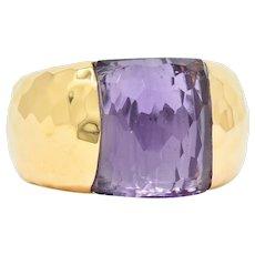 Roberto Coin Amethyst 18 Karat Rose Gold Gemstone Band Ring