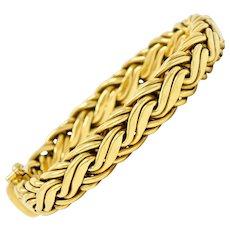 Tiffany & Co. 1980's Vintage 18 Karat Gold Wheat Chain Bracelet