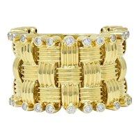 Roberto Coin 0.50 CTW Diamond 18 Karat Gold Flexible Appassionata Band Ring