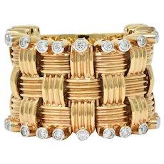 Roberto Coin 0.50 CTW Diamond 18 Karat Rose Gold Flexible Appassionata Band Ring