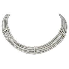Roberto Coin 0.36 CTW Diamond 18 Karat White Gold Multi-Strand Collar Necklace