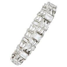 Harry Winston by Jacques Timey 20.52 CTW Emerald Cut Diamond Platinum Line Bracelet