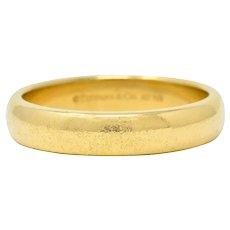 Tiffany & Co. 18 Karat Gold 4.5 MM Men's Wedding Band Ring