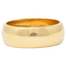 Tiffany & Co. 14 Karat Gold Unisex Vintage Wedding Band Ring