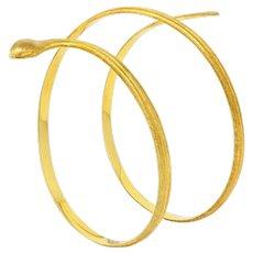 Buccellati Vintage 18 Karat Gold Coiled Snake Armband Bracelet