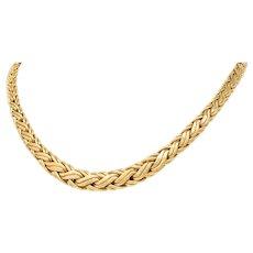 Tiffany & Co. Vintage 14 Karat Gold Wheat Chain Necklace