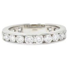 Tiffany & Co. 2.10 CTW Diamond Platinum Channel Eternity Band Ring