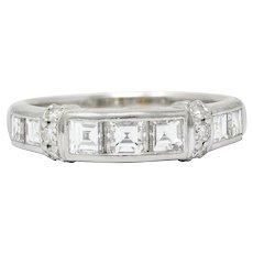 1.12 CTW Diamond Platinum Anniversary Band Ring