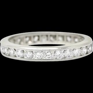 Classic 1.50 CTW Diamond Platinum Channel Eternity Band Ring