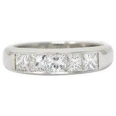 Modern 1.02 CTW Princess Diamond Platinum Channel Band Ring