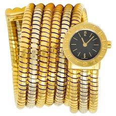 Bulgari 18 Karat Two Tone Gold Serpenti Tubogas Coil Watch