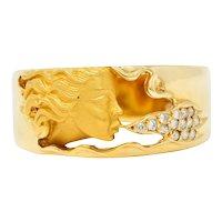 Carrera Y Carrera Diamond 18 Karat Gold Wind Nymph Band Ring