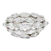 Oscar Heyman 4.00 CTW Marquise Diamond Platinum Cluster Band Ring