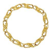 Carrera Y Carrera Vintage 18 Karat Gold Panther Link Bracelet