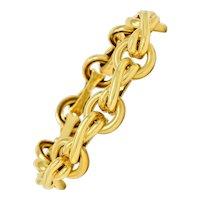 Paloma Picasso Tiffany & Co. 18 Karat Gold Knot Graffiti X Link Bracelet
