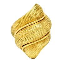 1980's Henry Dunay 18 Karat Yellow Gold Sabi Twist Statement Ring