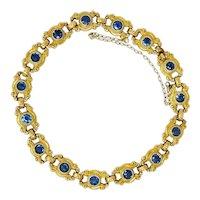 Sloan & Co. 4.50 CTW Sapphire 14 Karat Gold Link Bracelet