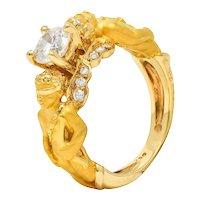 Carrera Y Carrera 0.75 CTW Diamond 18 Karat Gold Cupid Ring