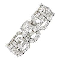 1950's Mid-Century 15.85 CTW Diamond Platinum Statement Bracelet