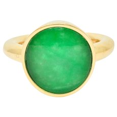 Vhernier Rock Crystal Quartz Green Hardstone 18 Karat Gold Giotto Gemstone Ring