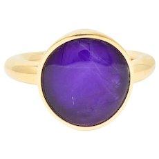 Vhernier Rock Crystal Quartz Sugilite 18 Karat Gold Giotto Gemstone Ring