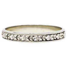 1930's Sohengrin 18 Karat White Gold Men's Wedding Band Ring