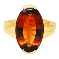H. Stern Vintage Citrine 18 Karat Gold Gemstone Ring