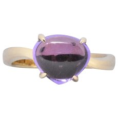 Bulgari Contemporary Amethyst 18 Karat Gold Ring
