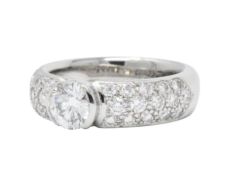 092d08c99 Tiffany & Co. 1.48 CTW Diamond And Platinum Alternative Engagement Ring  GIA. Click to expand