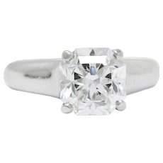 Tiffany & Co. 2.79 Carat  Diamond And Platinum Lucida Engagement Ring GIA